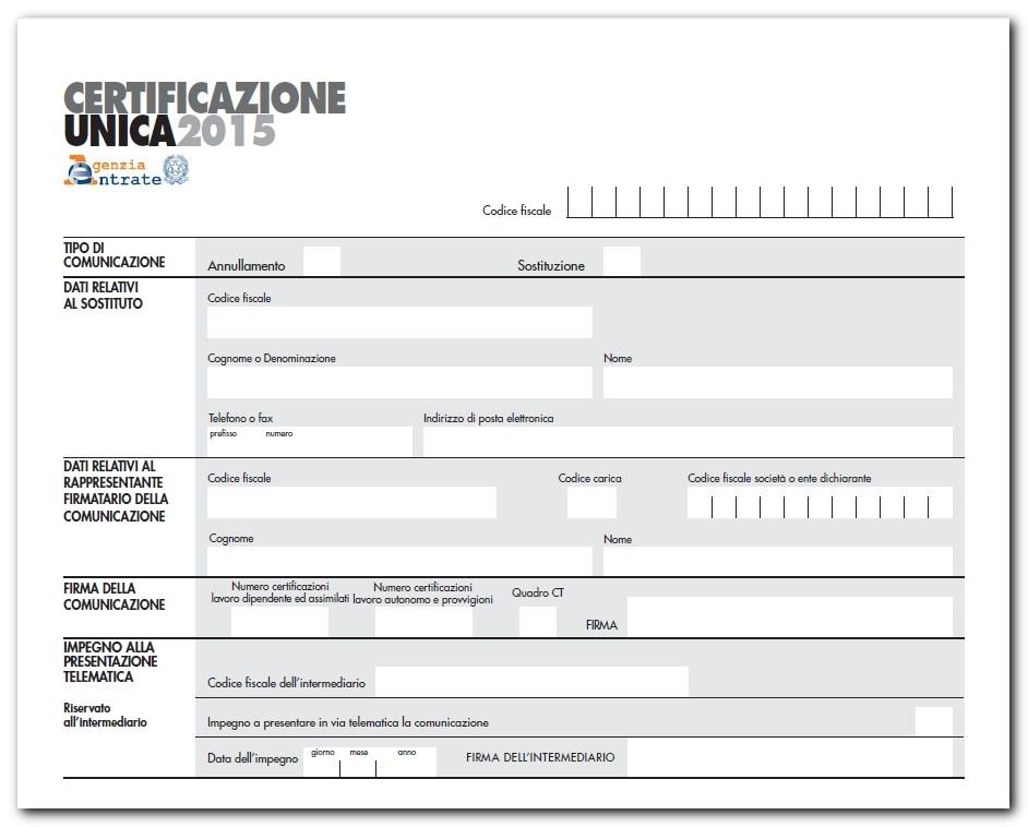 Certificazione unica 2015 iubar - Certificazione lavoro autonomo provvigioni e redditi diversi causale a ...
