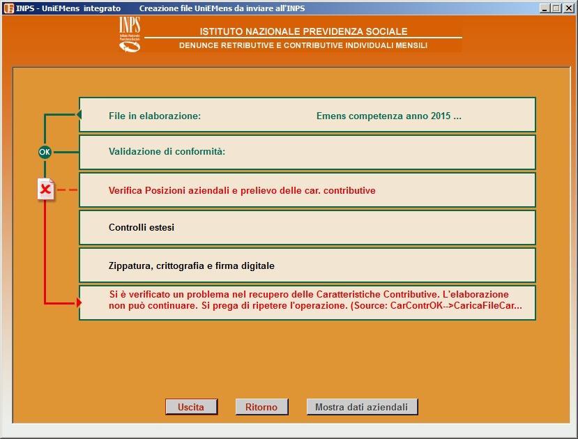 Problemi con Software INPS UniEmens Integrato