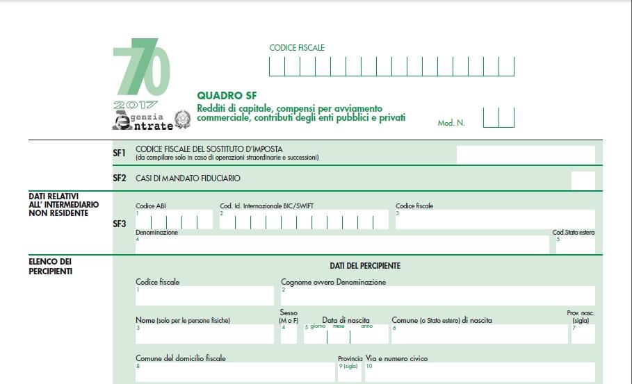 Novit e scadenze per dichiarazione 770 2017 iubar for Dichiarazione 770