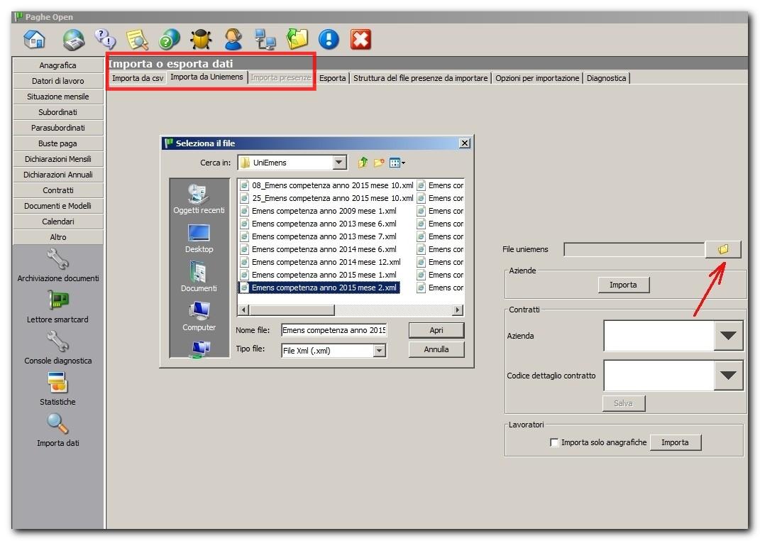 PagheOpen – Importazione dati dal vecchio software