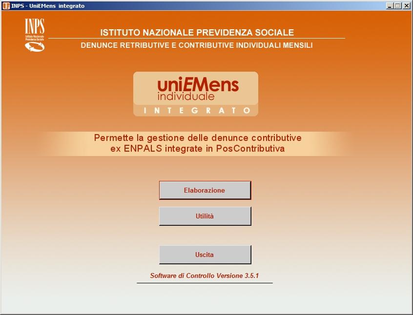 Software di validazione Inps UniEmens