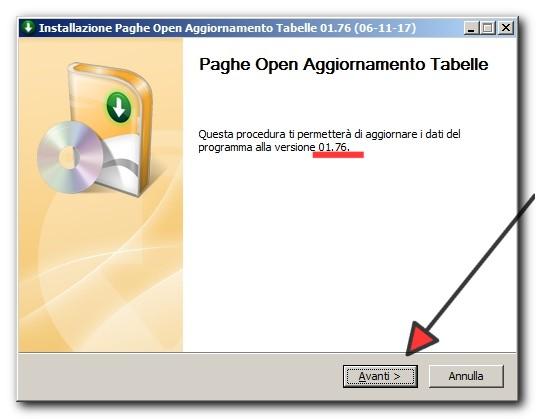 Nuovo aggiornamento tabelle PagheOpen 01.76