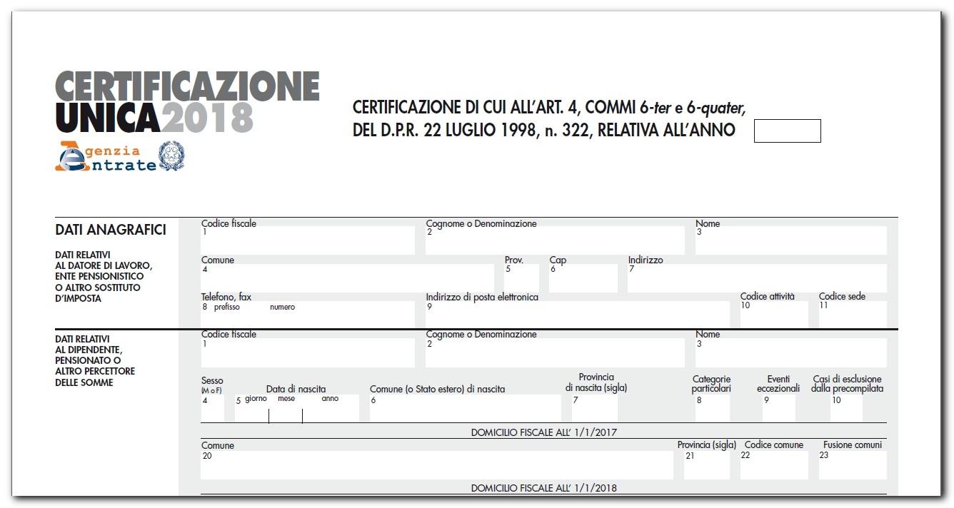 Certificazione Unica: scadenze, modello e istruzioni