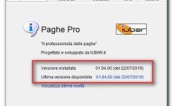 Online la nuova versione 01.94